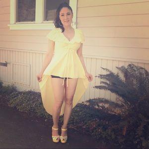 Vintage hi-low top tunic minidress